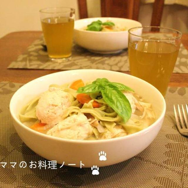 風変わりな肉団子入り煮込みパスタ☆