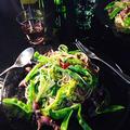 菜の花とホタルイカのペペロンチーノ。