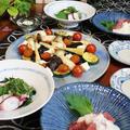 ◆タコの梅ソースにグリル野菜のおうちごはん♪~ゆるやか糖質制限中♪
