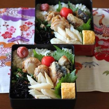 魚介弁当(๑¯﹃¯๑)♪