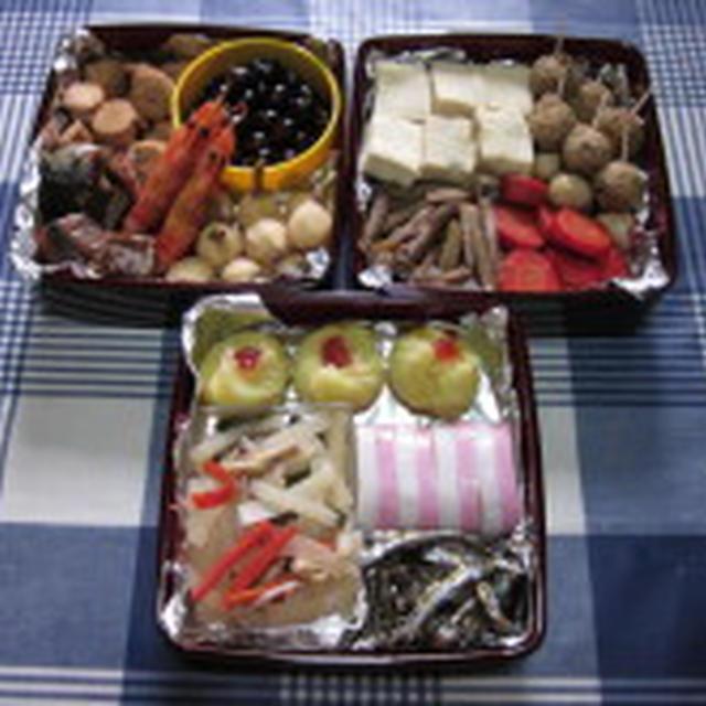 2012 お正月 くりりん&母の合作おせち☆  今年もよろしくお願いいたします!