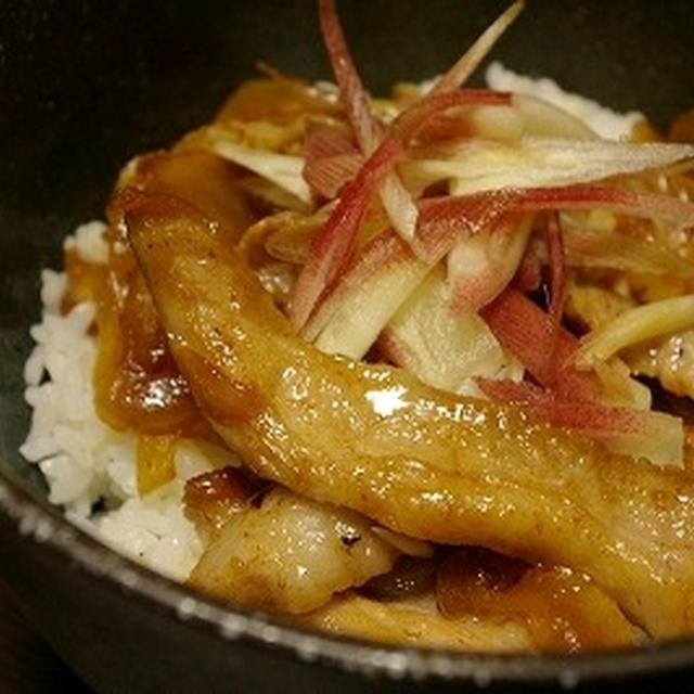 豚トロの柚子こしょう丼