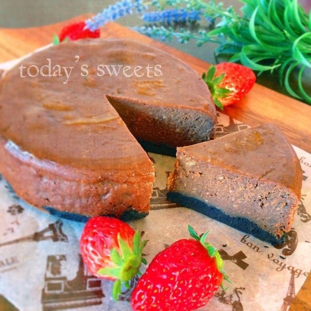 これヤバイ♡簡単混ぜるだけ♡カフェモカチーズケーキ♡♡