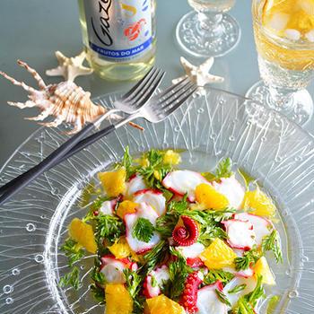 たこのエスカベッシュ   - 週末の食卓におすすめ!ワインに合う魚介料理 -