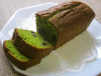グルテンフリー!(小麦粉なし)抹茶&黒豆甘納豆のパウンドケーキ♪