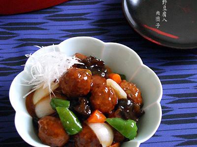 >お弁当【高野豆腐入り・肉団子】 by peguさん