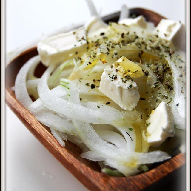 新玉ねぎとクリームチーズのイタリアン風味(レシピ)
