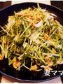 水菜と鶏ハムのサラダ
