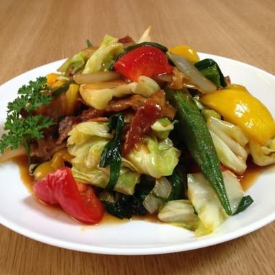 野菜炒め(コチュジャン甘辛味)