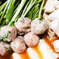 米粉を使って、鶏ミンチボール・・・・・・、坦々鍋