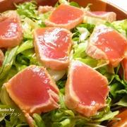ダイエット・老化防止におすすめ!【マグロのたたきサラダ】レシピ付き