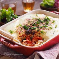 にんべん・ひき肉のトマトバジルを使って簡単シェパーズパイ