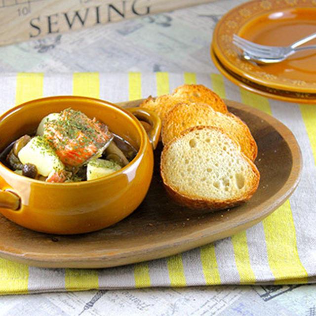 デキる女の秘密はココ♡鮭とポテトのガーリックオイル煮《簡単★節約★作り置き★常備菜★おもてなし》