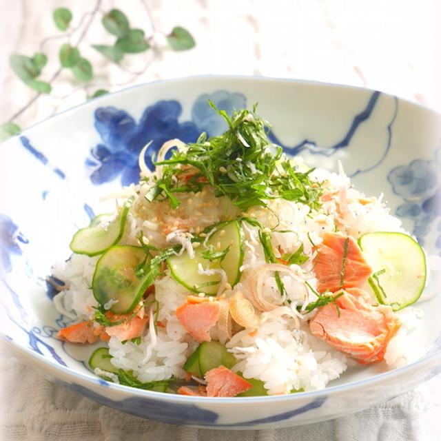 鮭としらすの香味ちらし寿司