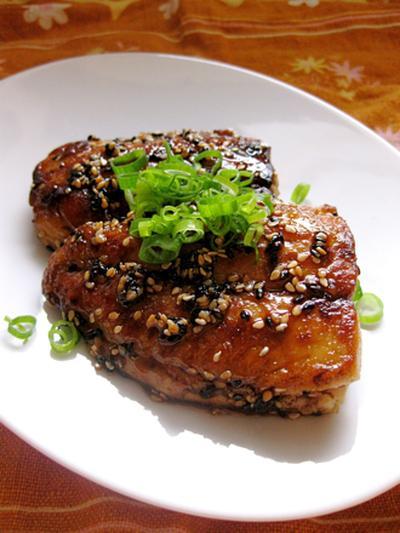 カツオの照り焼きステーキ。