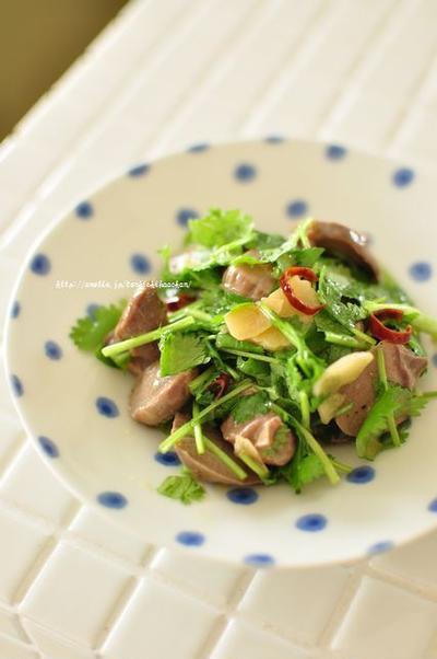 パクチー好きのアナタへ贈る☆砂肝のパクチーまみれ(レシピ有)