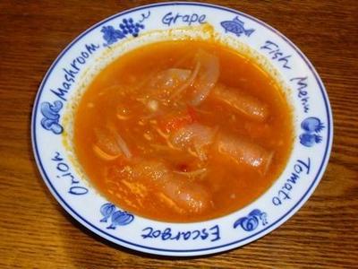 [レシピ][スープ] ウインナーのトマトスープ