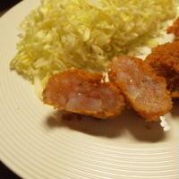 【レシピ】簡単海老カツ♪~レンジでチンして豚こまとんカツ使用レシピ~