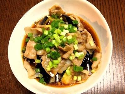 おつまみレシピ:韓国風ナスの揚げ浸し