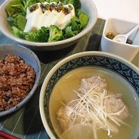 不調時の体にやさしい一汁一菜「つみれ汁+豆腐サラダ」〈ヤマキだし部〉