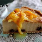 自信作!簡単ヘルシー!!チーズケーキ風豆腐タルト&娘の発言…となごんだ光景。