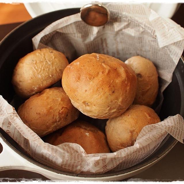 イチジク&クルミ&レーズン&マンゴーパンの朝ごはん