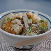 秋刀魚の炊き込み柚子胡椒風味