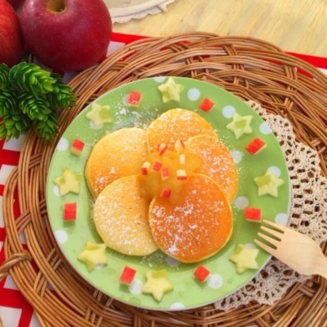 りんごのホットケーキ♡