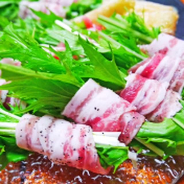 豚バラ水菜鍋&ブロ友きりまりちゃんとオフ会^^
