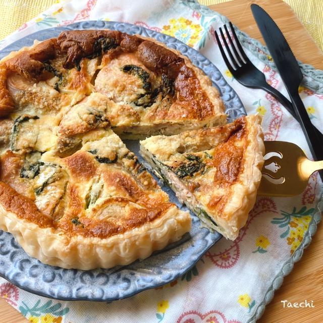 簡単レシピ!ほうれん草と秋鮭のキッシュ