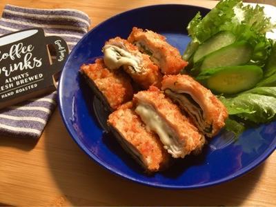 【簡単】【オススメ】15分で完成!豚肉のミルフィーユチーズカツ!