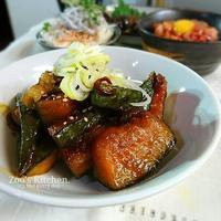 時短で簡単に!ご飯がすすむ♡豚肉と南瓜の甘辛煮