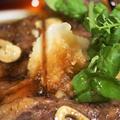 ■晩ご飯【たまにはガッツリ!ガーリックステーキ♪下ろしポン酢醬油ダレでサッパリと♪】