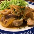豚の生姜焼きと息子の青森土産。