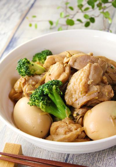 『お酢で鶏肉と卵のさっぱり煮』簡単煮物で筋肉作りと疲労に!