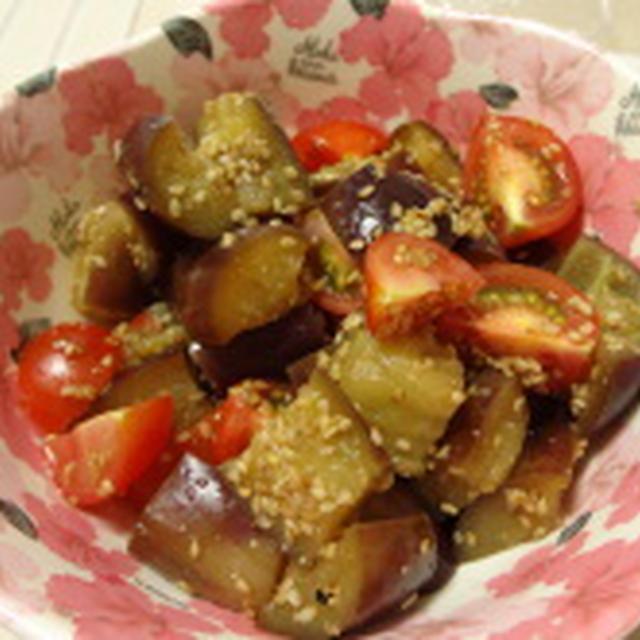 茄子とトマトのゴマ酢漬け