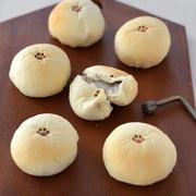 白玉もちっとパン(ココア)。【中からもちっと!焼き印ができるパン】
