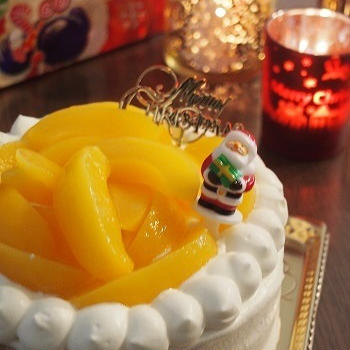 黄桃ケーキ♪