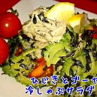 ひじき と ゴーヤの 冷しゃぶサラダ ☆