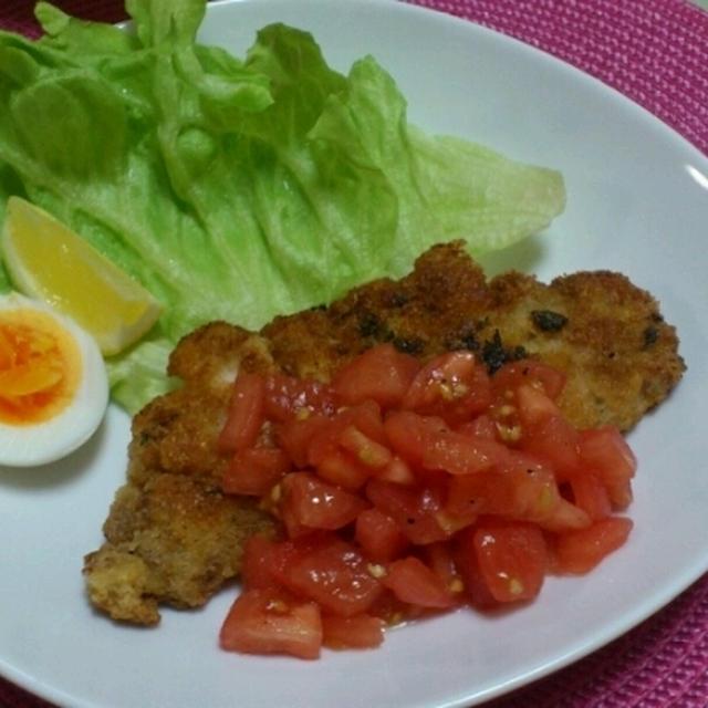 豚ロースのコトレッタ フレッシュトマトのソース