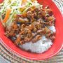 作り置きで簡単&ラクラク〜野菜もたっぷり!アジア風肉かけごはん。