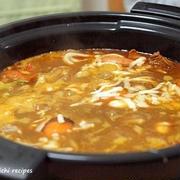 和風チーズカレー鍋&「残ったカレー鍋でリゾット」