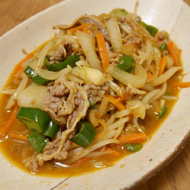 フライパンで簡単。もやしでカサ増し!甘辛プルコギ風野菜炒めの作り方