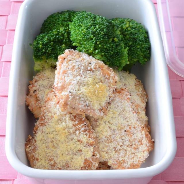 鶏むね肉のあらびきガーリック風味チーズパン粉焼き 作り置きレシピ GABANスパイス大使