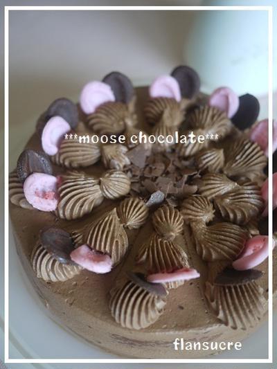 レアチーズケーキ&ムースショコラ♪…レアチーズケーキのレシピもザックリと。