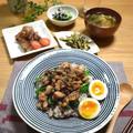 【レシピ】豚肉と椎茸の甘辛丼✳︎子供うけ抜群✳︎お弁当✳︎がっつりご飯