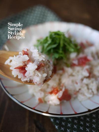 梅雨のジメジメを吹っ飛ばそう〜!さっぱり美味しく食べれる【梅とシラスの炊き込み御飯】