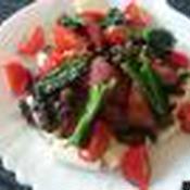 スルメイカのワタとスミカレーかけ豆腐