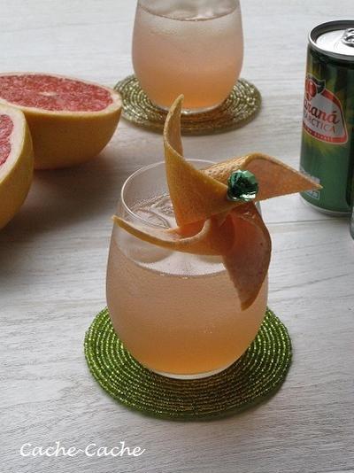 ガラナ・アンタルチカでグレープフルーツのカクテル♪
