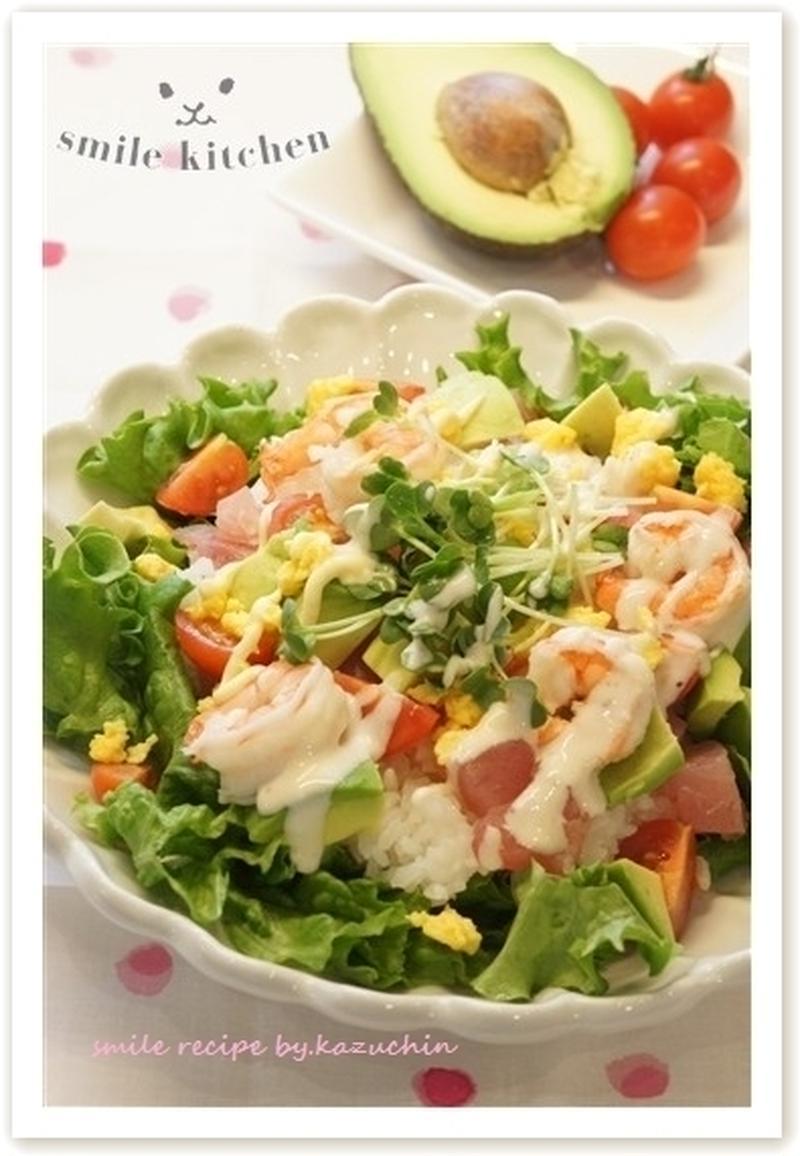 たっぷり野菜でヘルシー♪さっぱり食べられる「サラダご飯」レシピ
